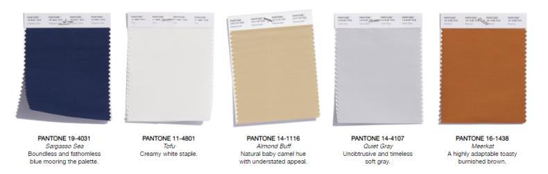Klasične boje - Pantone trendovi jesen 2018.